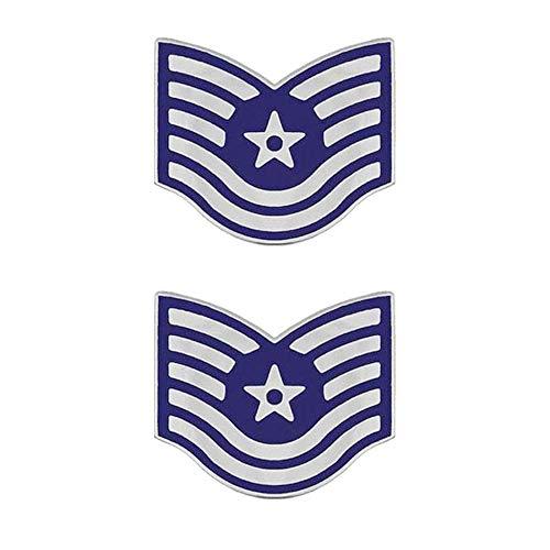 US Air Force Technical Sergeant Enameled Brite Metal Rank ()