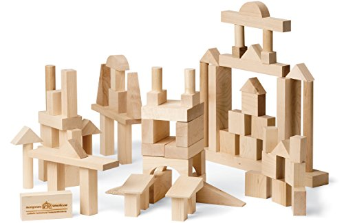 My Best Blocks - Advanced Builder - Made in USA, 78 pieces - Maple Blocks Set