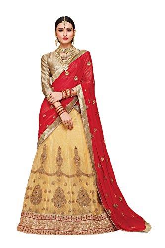 Da Facioun Indian Women Designer Wedding Beige Lehenga Choli Fabz-2385