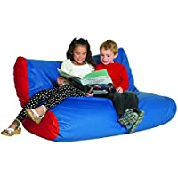 School Age Double High Back Seating Blue/Red