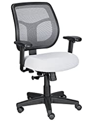 Eurotech Seating Apollo MT9400-SILVER Midback Swivel Chair, S...
