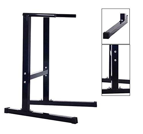 Tenive Dip Stand Freestanding Dip Bar Station Parallel Bar Bicep Triceps Home Gym Dipping Station black
