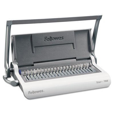 Star 150 Manual Comb Binding Machine, 17 11/16 x 9 13/16 x 3 1/8, White, Sold as 1 Each by Fellowes (Image #1)