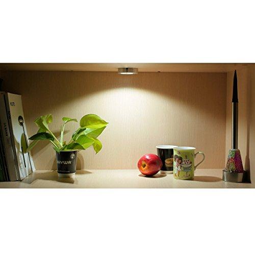 le 5 pack led under cabinet lighting brightest puck lights import it all. Black Bedroom Furniture Sets. Home Design Ideas