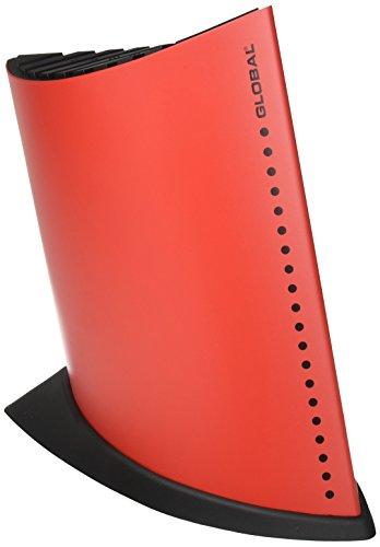 Global GKB-52/CR 10 Slot Ship Shape Knife Block - Red by Global (Image #1)