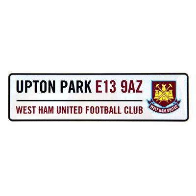 Window Street Sign - West Ham United F.C