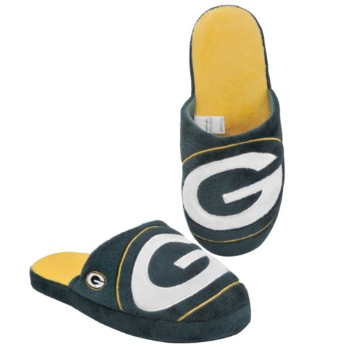 (Green Bay Packers 2011 Big Logo Men Slipper Tpr Sole Large )
