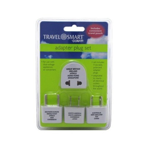 Nw135c Adapter Plug - Travel Smart By Conair 4 Packs Adapter Plug Set