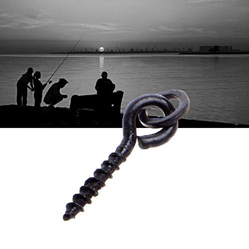 25Pcs Carp Fishing Bait Screw Carp Hair Rigs Hook Terminal Tackle With Ring 15Mm
