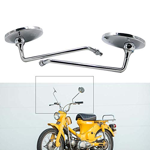 Motoparty M10 Rearview Mirror For Honda CB125S CT70 CT90 MT125 MT250 XL100 XL125 XL175 XL70 CT125 SL100 SL125 CB CT MT XL SL