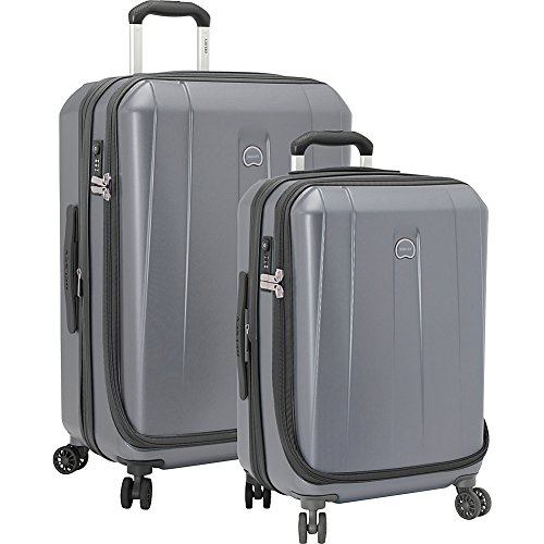 Delsey Lightweight Duffel - Delsey Luggage Shadow 3.0 2 Piece Hardside Spinner Carry on and Check Set, Platinum