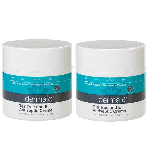 Derma E Tea Tree and E Antiseptic Creme Treatment, 4 oz (Set of 2)
