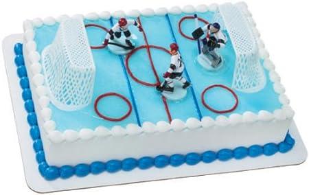 Remarkable Ice Hockey Cake Topper Decorating Kit Amazon Co Uk Kitchen Home Personalised Birthday Cards Petedlily Jamesorg