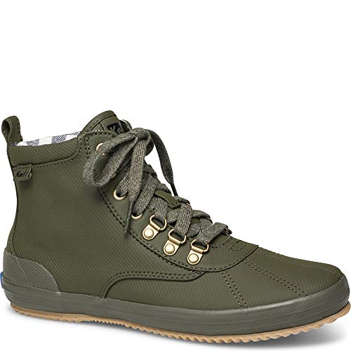 Keds Women's Keds Scout Boot Matte Twill Ankle Boot, Olive, 10 M US (Keds Green Womens)