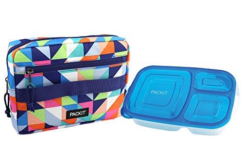 PackIt Freezable Bento Box Set: Freezable Sleeve and Reusable Bento Box Container, Paradise Breeze