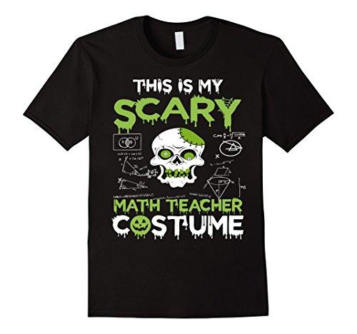 Mens Scary math teacher Halloween costume Tshirt 2XL (Teacher Halloween Costumes)