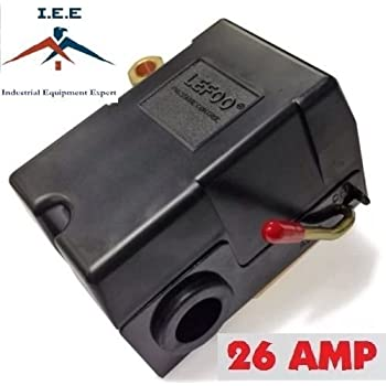 PRESSURE SWITCH CONTROL AIR COMPRESSOR 140 - 175 1 PORT HEAVY DUTY 26 AMP