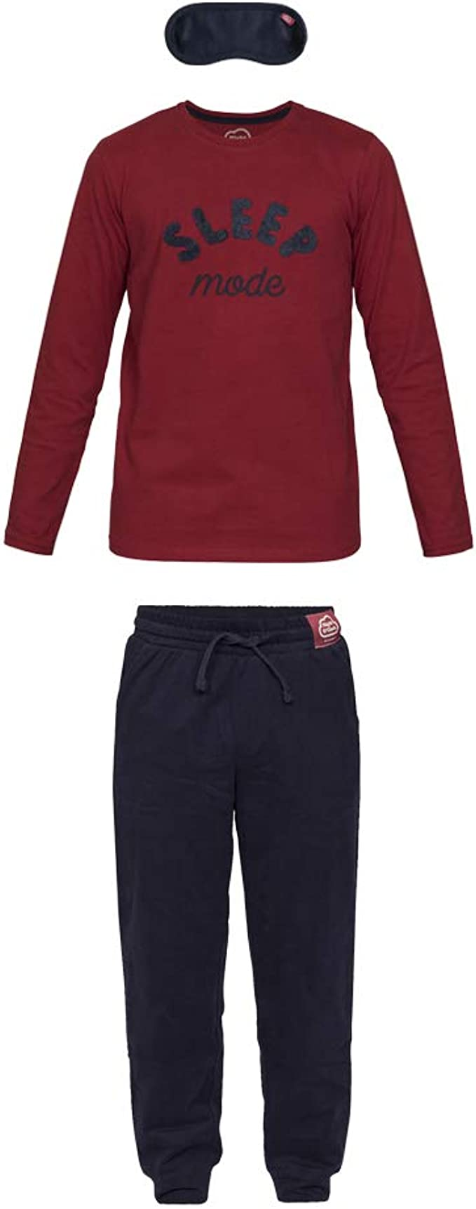 Nightoclock Bleep Conjunto de Pijama para niño en algodón orgánico e Antifaz