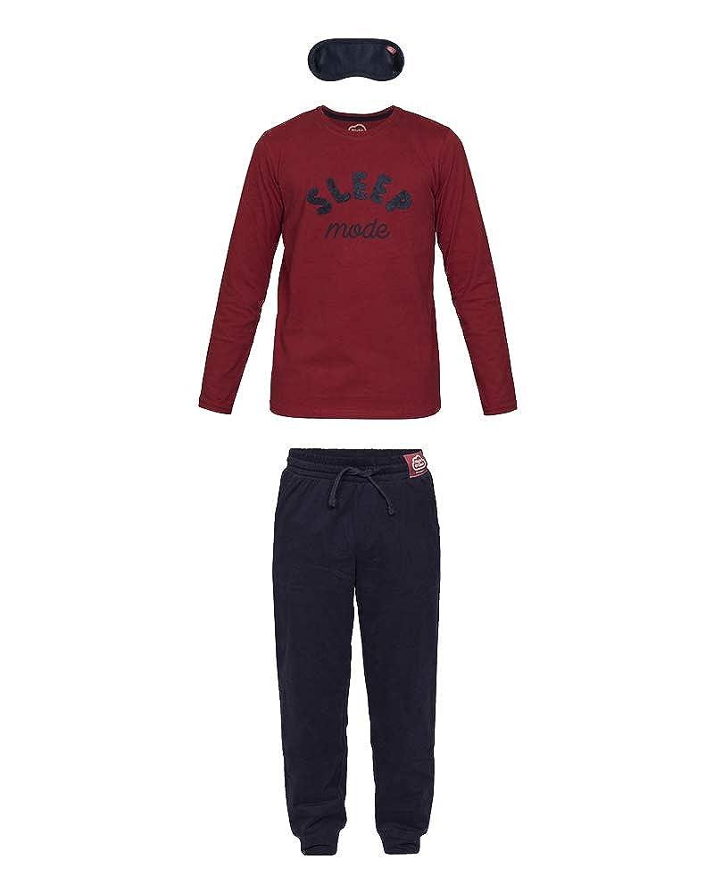Nightoclock Biger Conjunto de Pijama para ni/ño en algod/ón org/ánico e Antifaz