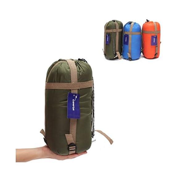 CAMTOA Outdoor Camping Sleeping Bag,Ultra-light Envelope Sleeping Bag for Travel Hiking - Spring, Summer & Fall Waterproof Sleeping Bag 3
