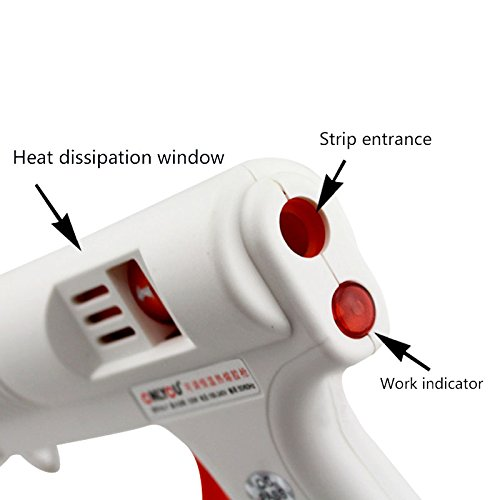 TOOGOO Hot glue-gun adjustable temperature 120W full size hot melt adhesive Full size glue-gun Adjustable temperature and flow control nd 11MM strip by Toogoo (Image #3)