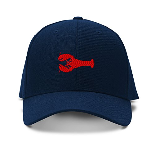 Lobster Animals Embroidery Adjustable Structured Baseball Hat Navy ()
