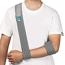 Unizooke Arm Sling – Medical Support Strap for Broken & Fractured Bones – Adjustable Shoulder, Rotator Cuff Full Soft Immobilizer – for Left, Right Arm, Men Women(Simple/Lightweight/Comfortable)