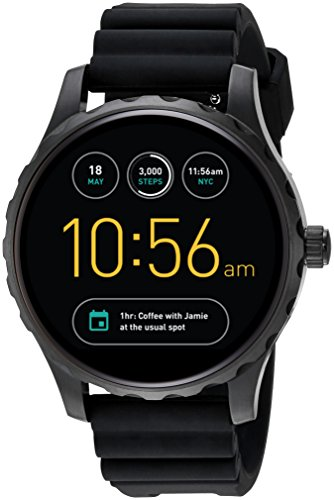 Fossil Q Marshal Gen 2 Black Silicone Touchscreen Smartwatch FTW2107 by Fossil
