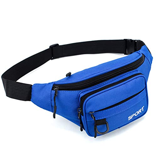 Aosfy Waist Pack Bag Ultralight Weight Outdoor Fanny Pack Adjustable Neuter Bum Bag for Hiking Camping Fishing Running (Blue)
