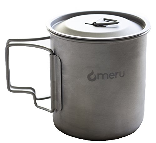 Meru Puri Titanium Travel Mug w/ Folding Handle 420ml