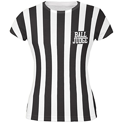 [Halloween Deflategate Ball Referee Costume All Over Juniors T-Shirt - X-Large] (Mens Referee Costumes)