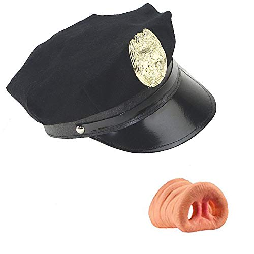 Loftus Novelty Costume Police Cop Black Hat With