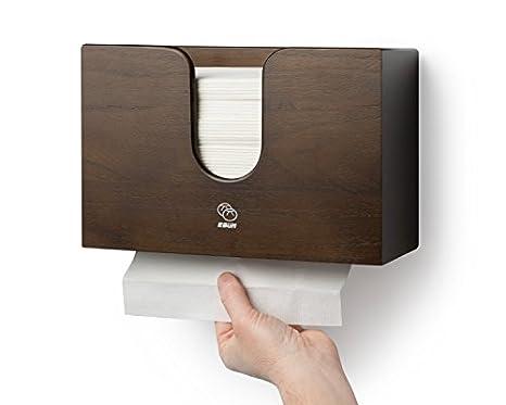 Dispensador de toalla de papel para cocina & baño – Soporte de pared/encimera Multifold papel toalla, C-fold, ZFOLD, Tri Fold toalla de mano soporte comercial (Espresso): Amazon.es: Amazon.es