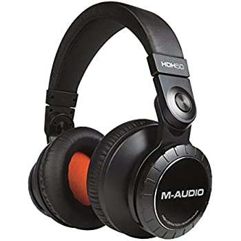 M-Audio HDH50   High-Definition Professional Studio Monitor Headphones with 50mm Drivers & Microphone Cable