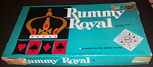 Whitman Rummy Royal (Sometimes Called MICHIGAN) Table Size Plastic Sheet