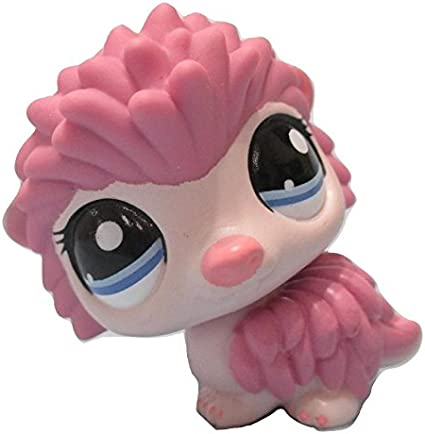 Littlest Pet Shop Pink Hedgehog Porcupine with Blue Eyes #1711 Replacement Part LOOSE//Packaged in Parts Bag LPS