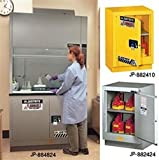 """Flammable Safety Cabinet for Under Fume Hood 24"""" self-closing silver Justrite"""