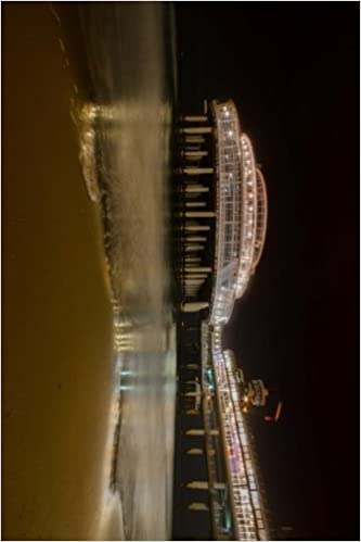 Scheveningen Pier at Night in The Netherlands: Blank 150 page lined journal for your thoughts, ideas, and inspiration