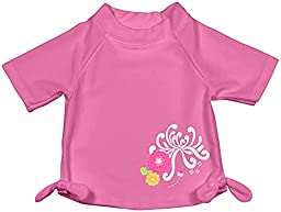i play. Baby Girls\' Short Sleeve Bow Rashguard, Pink, 24 Months