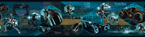 York Wallcoverings Disney Kids DK6066BD Tron: Legacy Border, Black