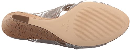 Metallic Women Light West Kessie Light Wedge Sandal Silver Nine Metallic PxTqHnw