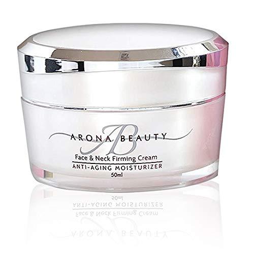 Arona Beauty Face & Neck Cream | Anti Aging Skin Care | Replenishing, Firming & Moisturizing | All Skin Types | Organic Ingredients & Essential Oils | Fragrance, Dye & Cruelty Free | 50mL