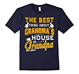 Men's The best thing about Grandma's house is Grandpa T-Shirt XL Navy