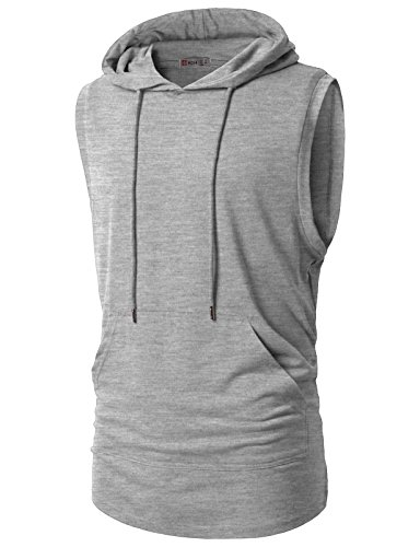 46fa67cd Galleon - H2H Mens Hipster Hip Hop Hoodie Vest Sleeveless Pullover Hooded  Fashion T-shirt GRAY US 2XL/Asia M (CMTTK028)
