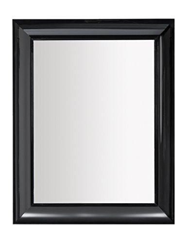 Kartell 8300/E6 Francois Ghost Mirror by Phillippe Stack, Pack of 1, Matte Black