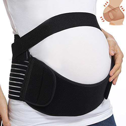 KIWI RATA Maternity Belt Waist Abdominal Back Belly Band Pregnancy Belt Support Brace Postpartum Recovery Belt Girdle Belly Binder - Fully Adjustable