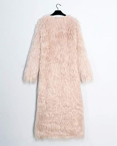 Para Pink Abrigo Huixin Mujer 1 RfWqT