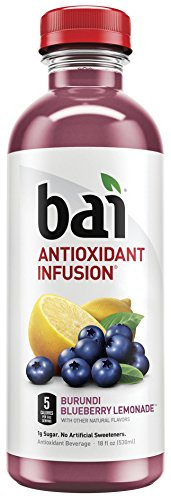 (Bai Flavored Water, Burundi Blueberry Lemonade, Antioxidant Infused Drinks, 18 Fluid Ounce Bottles, 12 count)