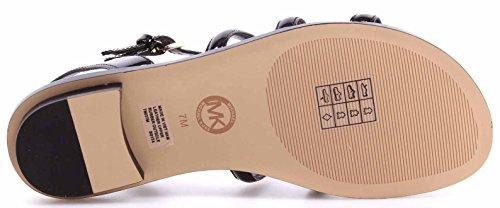 Zapatos Mujeres Sandalias MICHAEL KORS Nantucket Flat Patent Black Nuevos