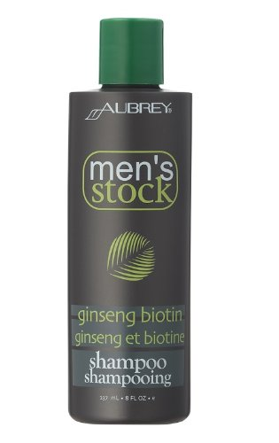 Men's Stock Ginseng Biotin Shampoo Aubrey Organics 8 oz Liquid Aubrey Organics Hair Conditioner